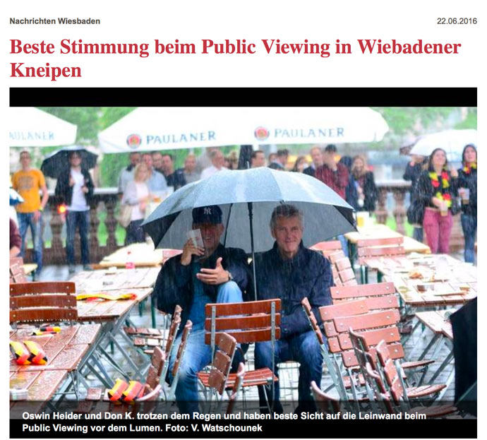 Public Viewing im Lumen
